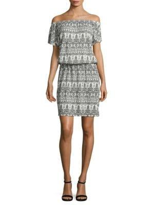 Soft Joie Danyale Off-The-Shoulder Ikat Dress