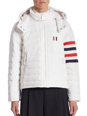 White Down Four Bar Ski Jacket