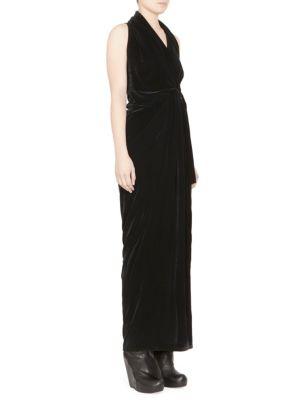 Limo Long Velvet Dress