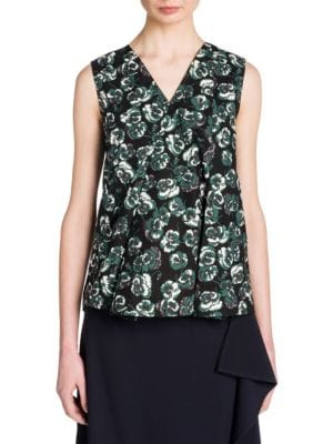 Floral-Print Cotton Top by Marni