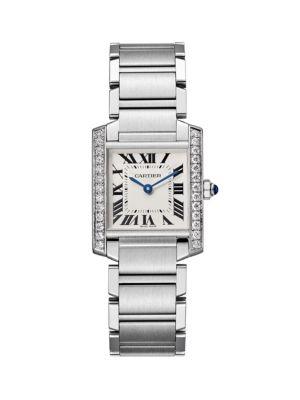 Cartier Tank Francaise de Cartier Medium Stainless Steel & Diamond Bracelet Watch