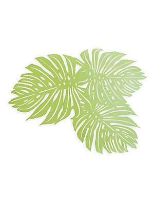 """Image of Tropical palm fronds reusable placemats in laser-cut design. Set of eight 17""""W x 13.5""""L Paper Made in USA. Gifts - Books And Music > Saks Fifth Avenue. Ceci New York."""