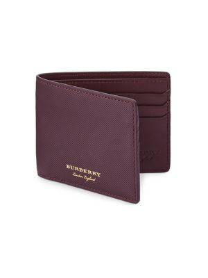 Burberry Wallets Hipfold Grain Leather Wallet
