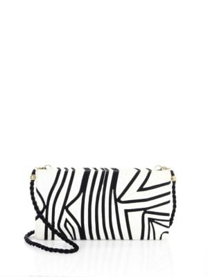 BEATRIZ Tropical Edge Large Convertible Clutch in White