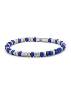 "Image of Sterling silver bracelet featuring metallic beads. Sterling silver. Width, about 0.25"".Made in Italy."