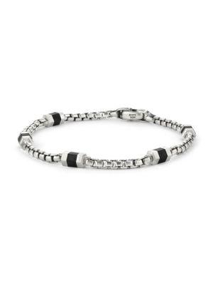 2dc75bf691bd0 David Yurman Sterling Silver Hex Chain Station Bracelet