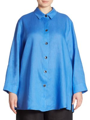 Collared Linen Tunic by Caroline Rose