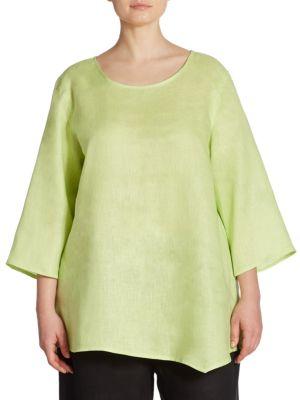 Asymmetrical Linen Tunic by Caroline Rose