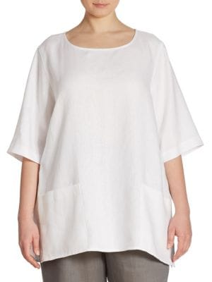 Patch Pocket Linen Tunic by Caroline Rose