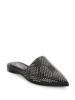 Darla Leather Flat Mules BLACK. Product image. #. QUICKVIEW. Michael Kors  Collection