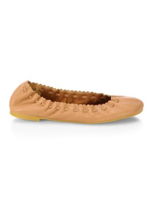Jane Leather Ballet Flats by See By Chloé