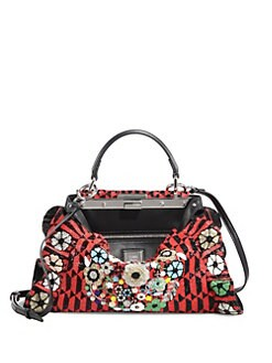 d96d583b192b QUICK VIEW. Fendi. Peekaboo Mini Bead-Embroidered Handbag