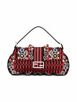 3362ed0519 Baguette Beaded Ruffle Leather Shoulder Bag MULTI. QUICK VIEW. Product image