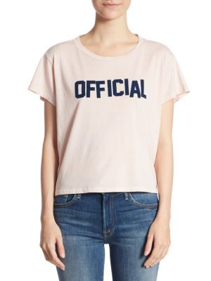 Crop Goodie Official Cotton Tee by MOTHER