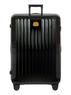 Capri 32-Inch Spinner Suitcase - Black, Black Cognac