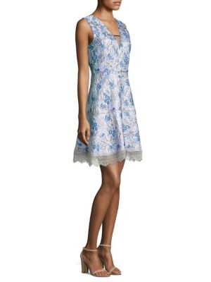 Arianna Embroidered A-Line Dress by Elie Tahari