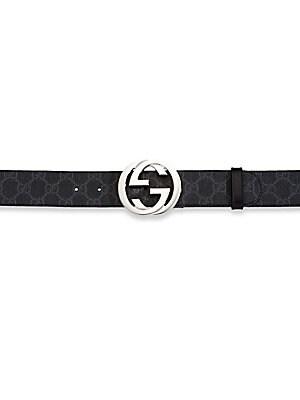 3e5db382c7ae Gucci - Interlocking GG Supreme Canvas Belt - saks.com