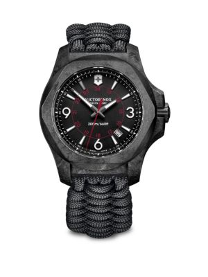 Victorinox Swiss Army I.N.O.X. Carbon, Stainless Steel & Paracord Strap Watch