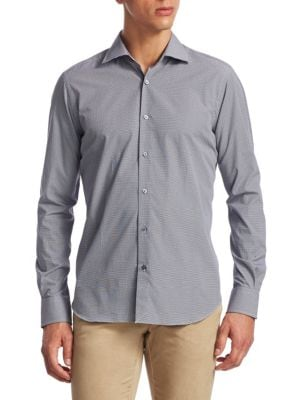 Saks Fifth Avenue  COLLECTION Patterned Cotton Button-Down Shirt