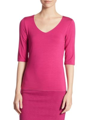 Elbow Sleeve Tee by Armani Collezioni