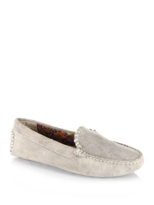 Taylor Suede Drivers, Dove Grey