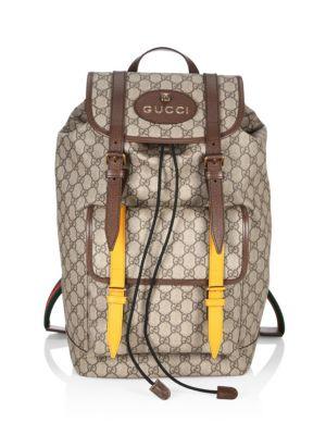 cb5e8159690275 Gucci - GG Supreme Web Backpack - saks.com