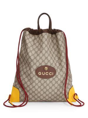 67de103d4b36 Gucci - GG Supreme Canvas Backpack - saks.com