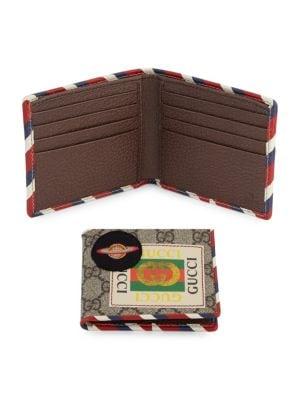 df373832595390 Gucci - GG Supreme Canvas Web Bi-Fold Wallet - saks.com