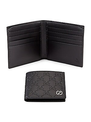 ec7c261718d Gucci Embossed Gg Leather Bifold Wallet. Gucci Gg Tiger Billfold Wallet Saks