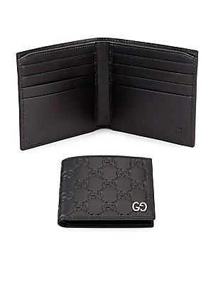 dc616abd4e8 Gucci - Embossed GG Leather Bifold Wallet