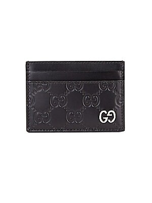 ccdb1d823d86d1 Gucci - GG Leather Credit Card Holder - saks.com