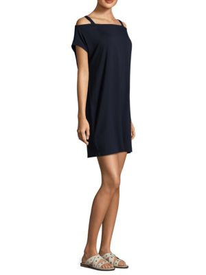 Solid Cold Shoulder Dress by Eileen Fisher