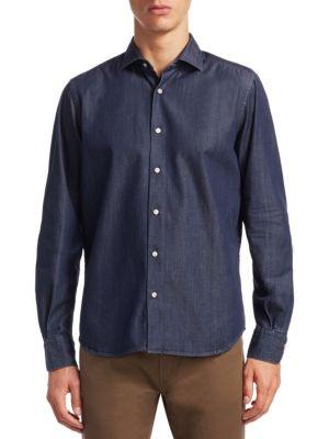 Saks Fifth Avenue  COLLECTION Cotton Button-Down Shirt