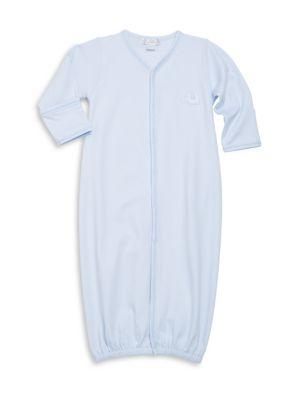 Babys Endearing Elephants Pima Cotton Convertible Gown