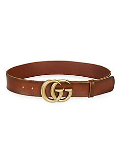cd41ec4b891 Belts. Gucci - Leather Belt with Double G Buckle