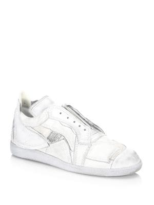 Patch Leather Low Top Sneakers by Maison Margiela