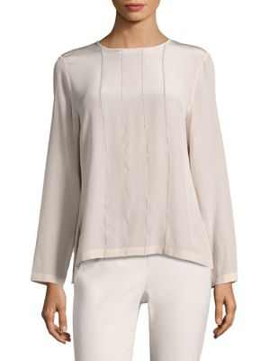 Embellished Silk Blouse by Peserico