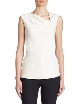 Draped Silk Blouse by Armani Collezioni