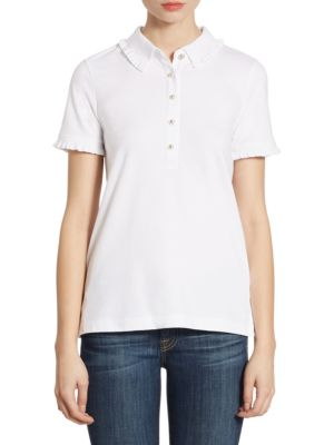 Lacey Short Sleeve Polo by Tory Burch
