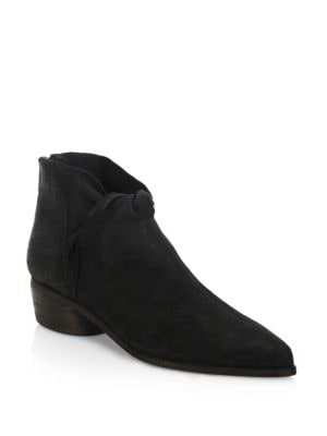 LD TUTTLE The Marble Leather Booties in Black