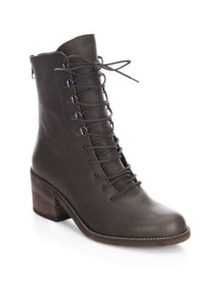 LD TUTTLE The Below Mid Calf Leather Boots in Brown