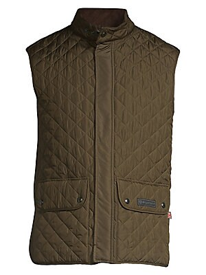 Image of Attractive diamond quilted pattern styles this coat Stand collar Sleeveless Snap button front Waist double buttoned pockets Polyester Machine wash Imported. Men Advcd Dsgnr - Men's Designer Rtw > Saks Fifth Avenue. Belstaff. Color: Faded Olive. Size: 48 (