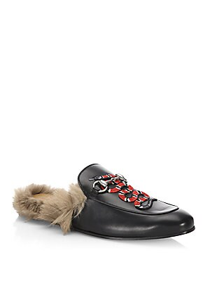dd7db660a Gucci - Princetown Leather Slipper With Kingsnake - saks.com