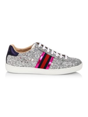 New Ace Glitter Sneakers by Gucci