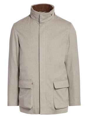 Loro Piana Coats Winter Voyager Cashmere Overcoat