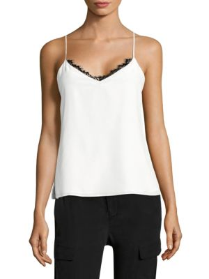 Lia Lace-Trimmed Silk Camisole by L'AGENCE