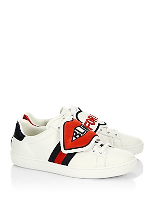 5ba74d5bd1e6 Gucci - New Ace Blind For Love Sneakers - saks.com