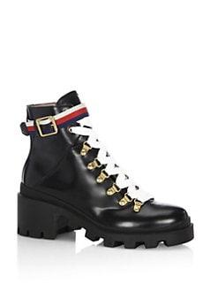 88ff6a2ca Gucci Magnum Leather Moto Boots