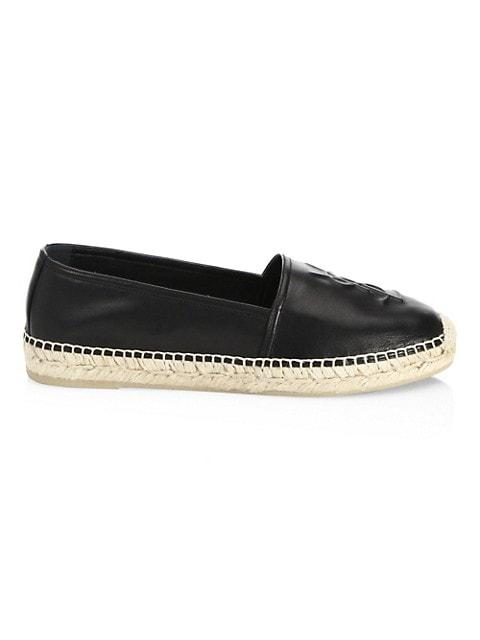 Logo Leather Espadrilles