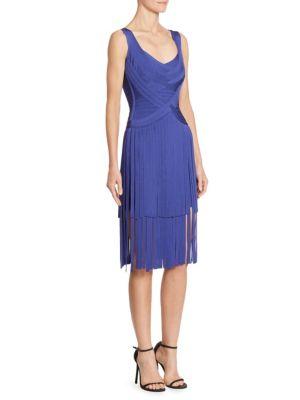 Buy Herve Leger Fringe Knit Dress online with Australia wide shipping